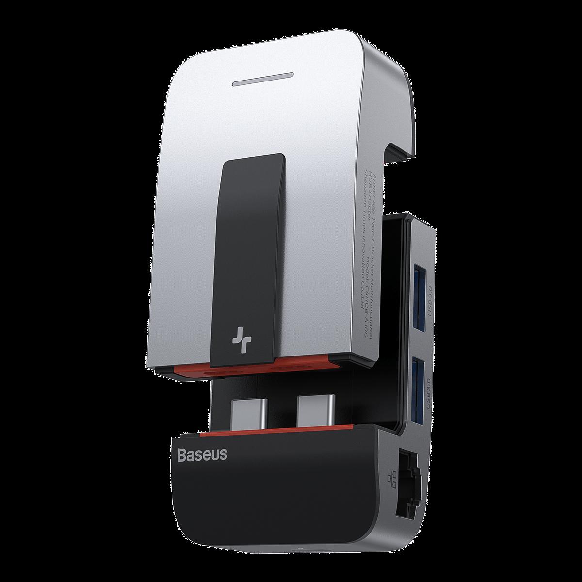 Baseus Type C Bracket Multifunctional HUB Speed Data Transfer USB Adapter For Notebook