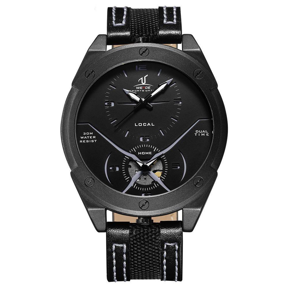 NKG US$27.53 WEIDE UV1703 Colorful Unique Design Men Wrist Watch Dual Time Display Quartz Watches