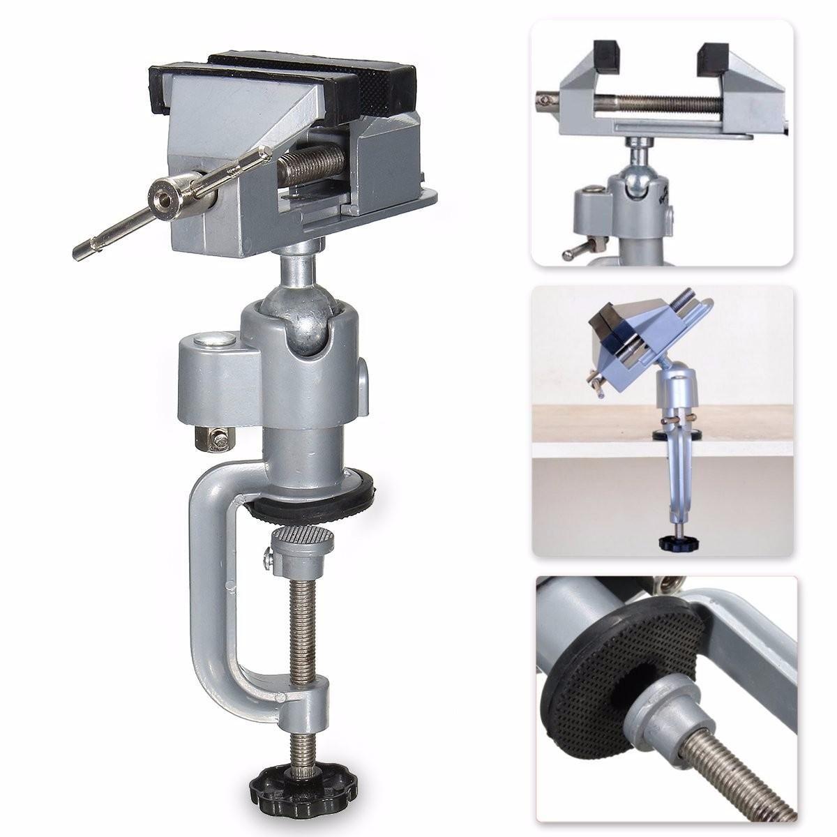 Vise Workbench Swivel 360° Rotating Clamp Table Top Deluxe Craft Repair DIY Tool