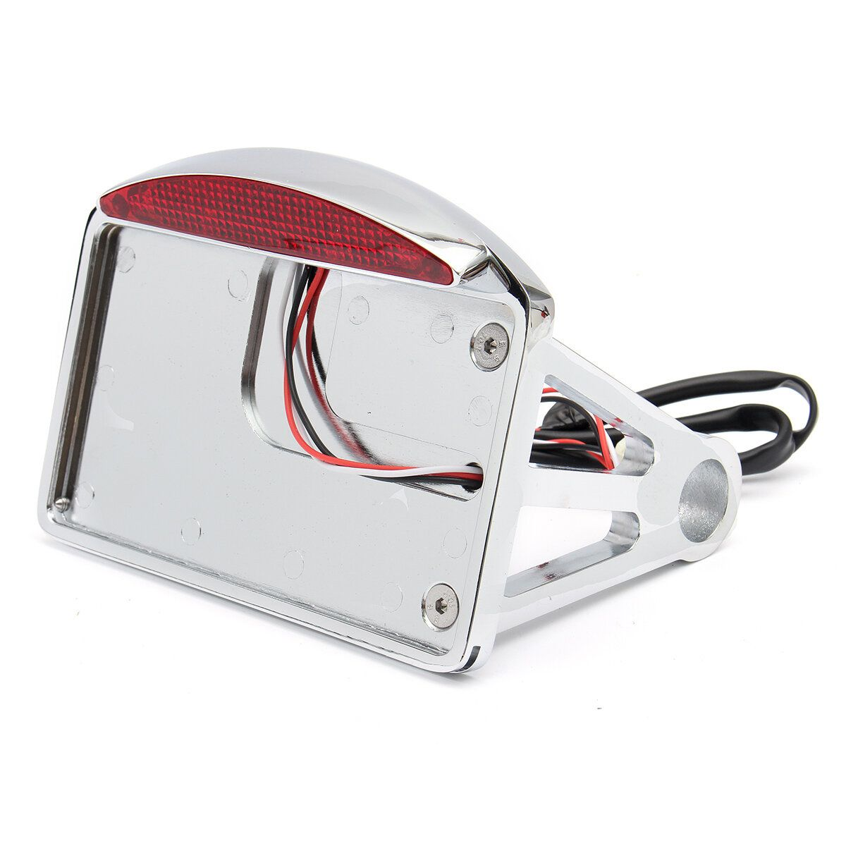 Motorcycle License Plate LED Tail Light Horizontal SidE mount Bracket For Harley
