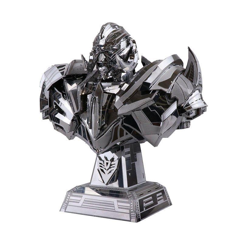 YM N033 165*95*175mm MU DIY Jigsaw Puzzle Toy 3D Metal Stainless Steel Autorobot Kit Kids Gift