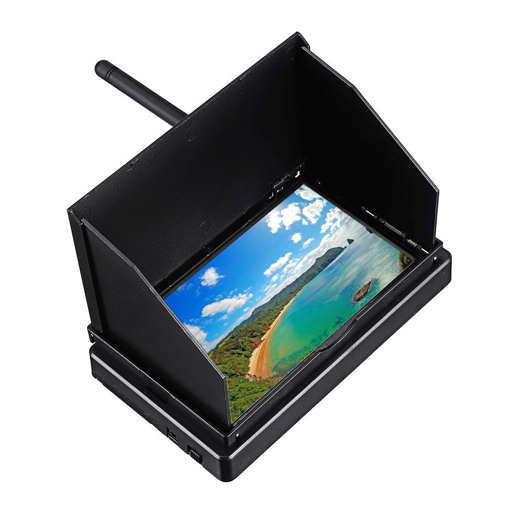 5.8G 48CH 4.3 Inch LCD 480x272 16:9 NTSC/PAL FPV Monitor Auto Search With OSD Build in Battery
