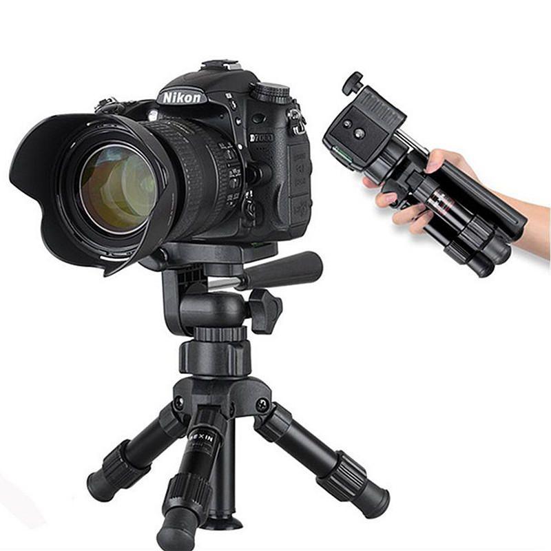 Bakeey MS02 Aluminum Alloy Mini Portable Desktop Tripod Kit 3 Way Ball Head for Live Phone Camera