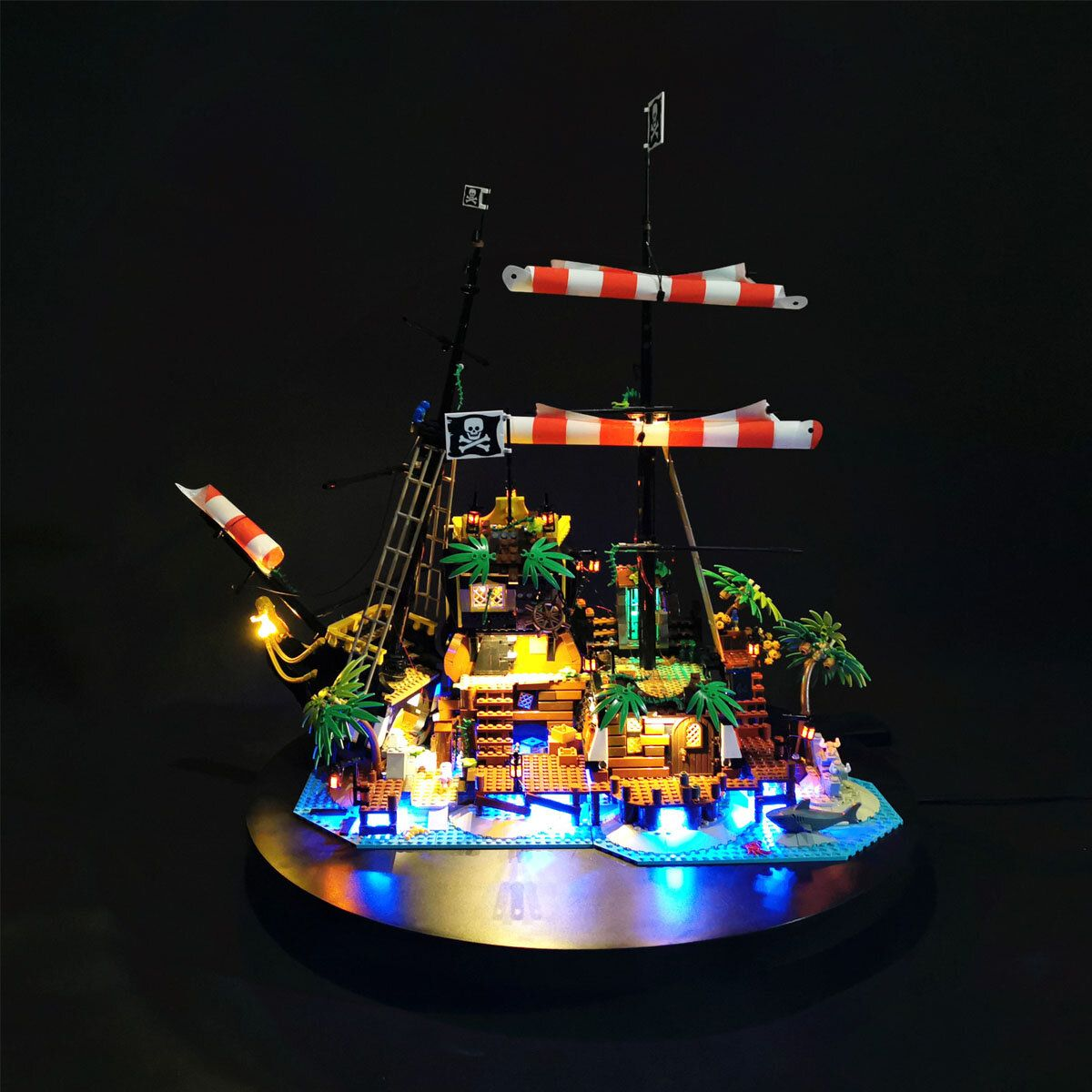 LED Light Lighting ONLY Fit For LEGO 21322 Pirates of Barracuda Bay Bricks Toy
