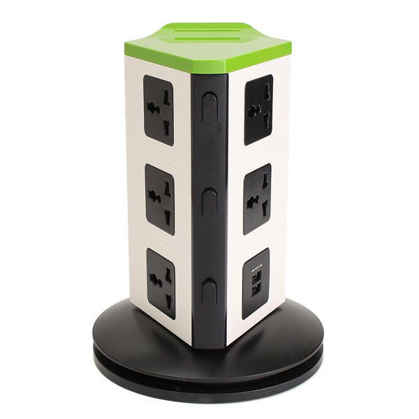 SMO US$43.44 Universal 8 Port EU Plug Socket Wall Charger Dock Station with bluetooth Speaker