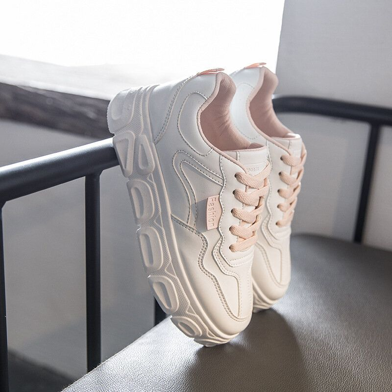 Women Lace Up Front Slip Resistant Casual Chunky Sneakers