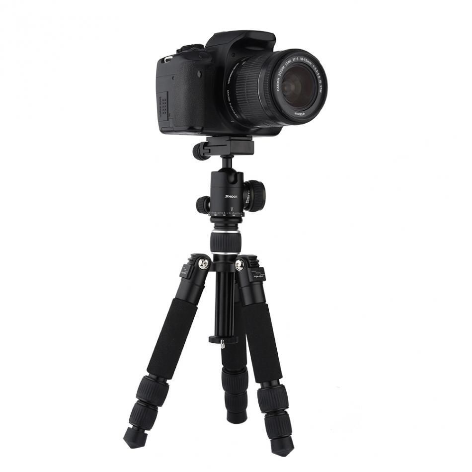 SHOOT XTGP441 Portable Tripod 3 Sections Foldable Telescopic Tripod with Ball Head for DSLR Cameras