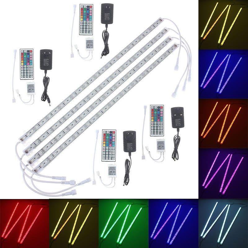 4pcs 50cm 5050 RGB LED Rigid Strip Light Fish Tank Aquarium Lamp TV Background Lighting
