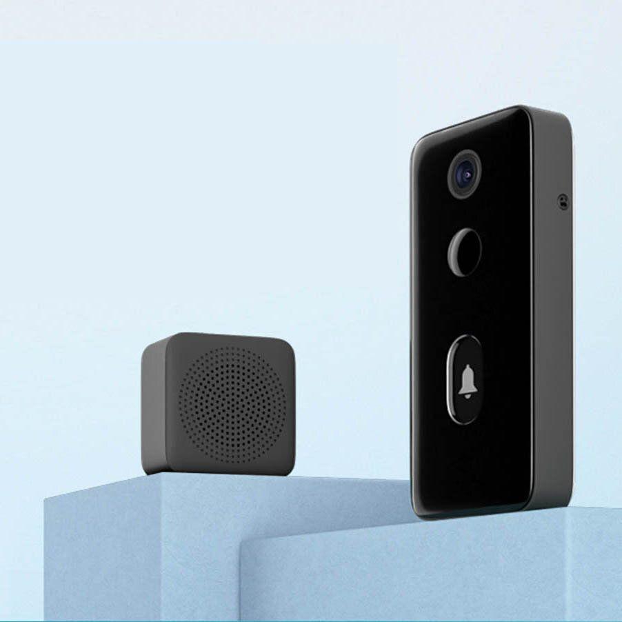 XIAOMI MIJIA 1080P HD Smart Video Doorbell 2 Infrared Night Vision Doorbell Two Way Intercom Video Doorbell 139 ° HD Large Wide Angle 1080P Intelligent AI Doorbell