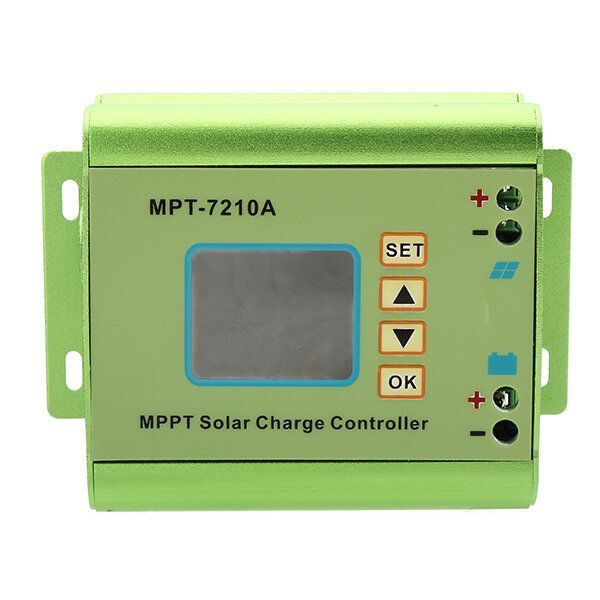 MPT 7210A Aluminum Alloy MPPT Solar Panel Charge Controller with LCD Display