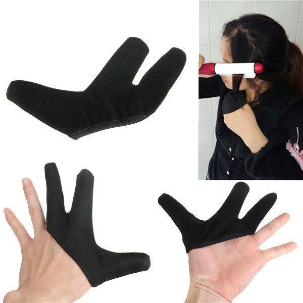 Heat Resistant Finger Glove For Hair Straightener Straightening Curling Hairdressing