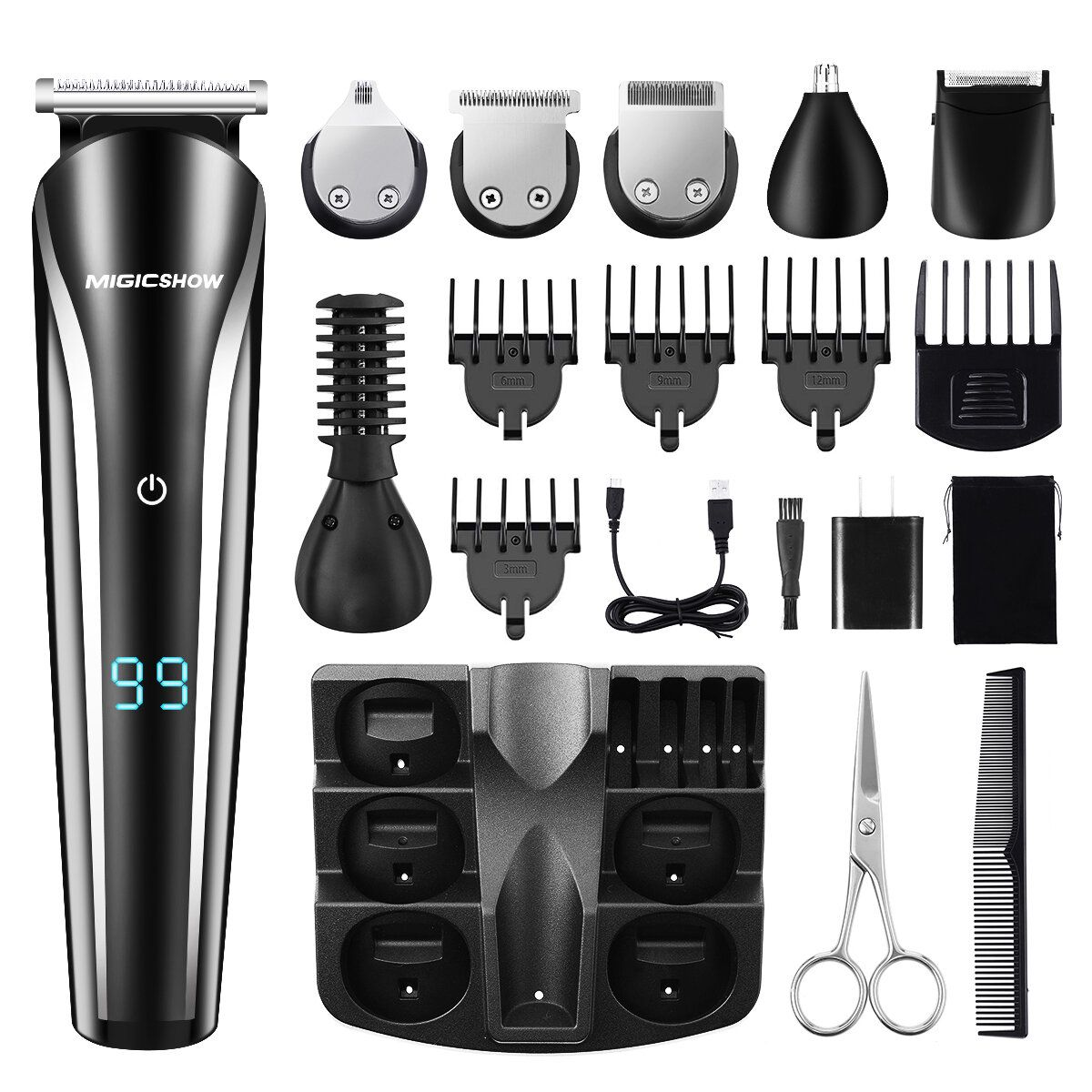 Professional Hair Trimmer Men MIGICSHOW Beard Trimmer Shaving 11 In 1 Electric Hair Trimmer Shaver Remove Nose Hair Ears Body Underarm Legs Waterproof