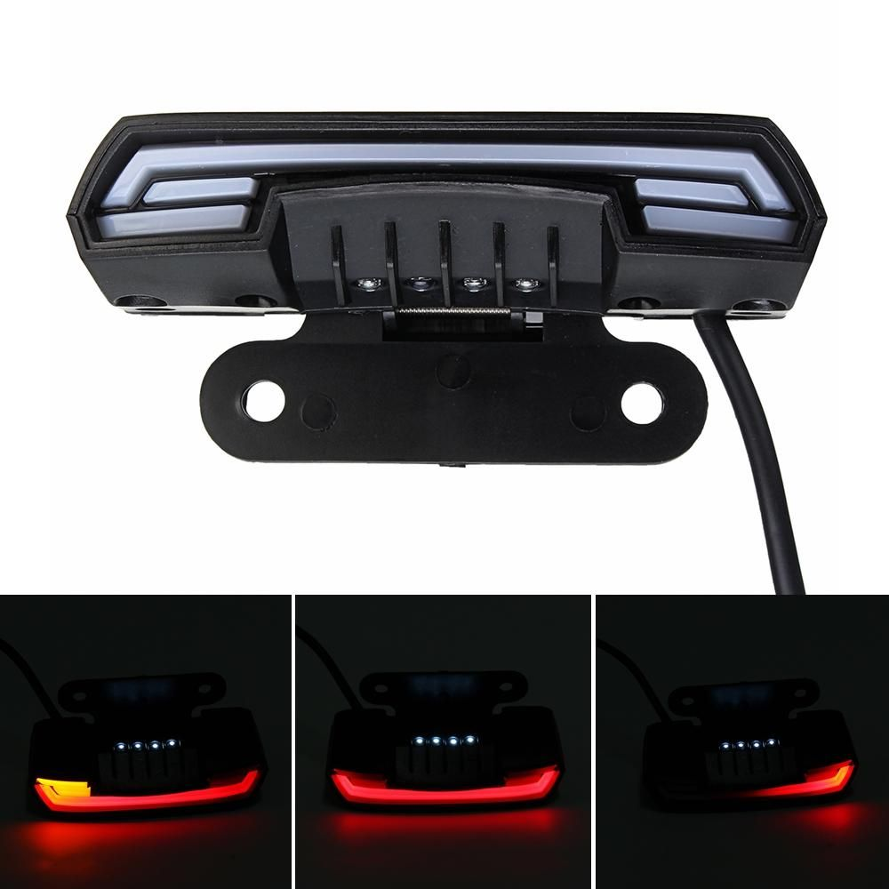 VRY US$13.25 12-80V waterproof Double Flash T6 Dynamic Turn Signal Tail Brake Lights For Motorcycle Scooter