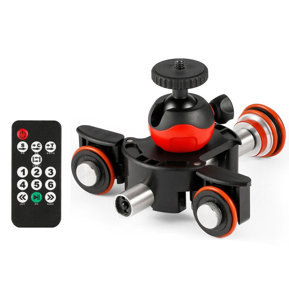 Lensgo L8X Slider Dolly Photography Electronic Car with Remote Control Ball Head Phone Clip