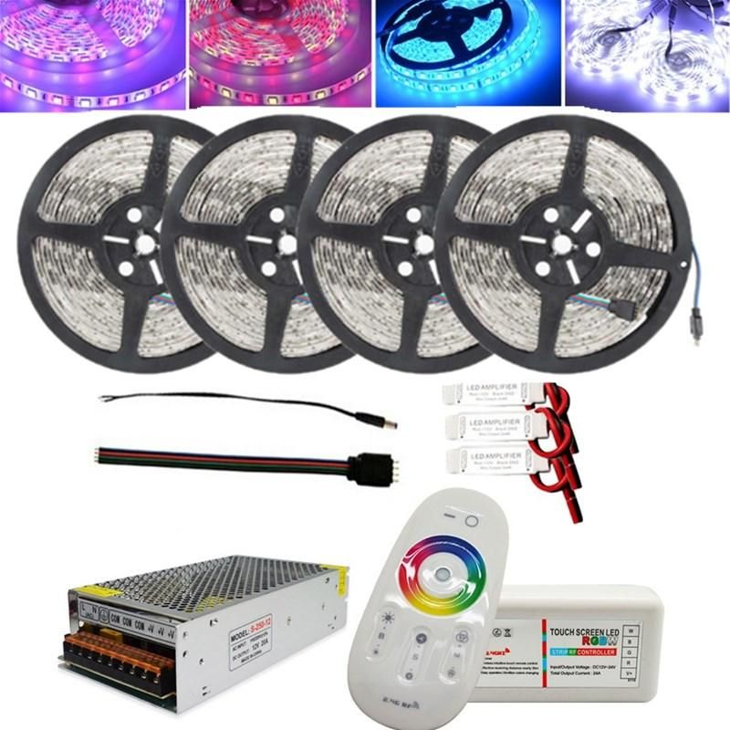 XGD US$74.65~79.65 4x5M SMD5050 Non-waterproof LED Strip Light+2.4G RF Remote Controller+DC12V Lighting Transformer