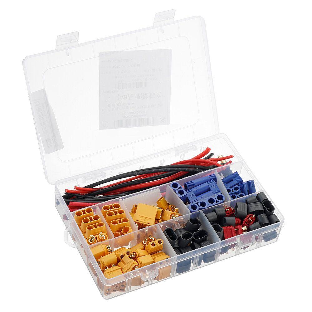 1 Set AMASS XT90H/XT60H/XT30/T/EC3/EC5/3.5 Banana Plug Connectors with Cable Wire Heat Shrink Tube for Lipo Battery