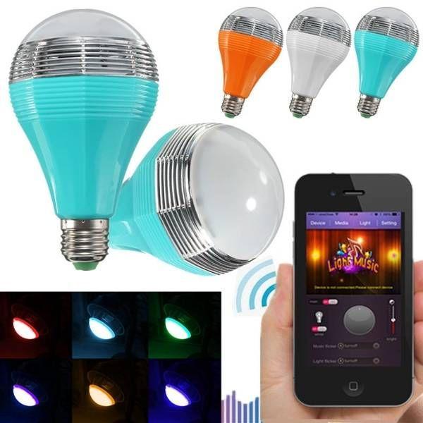 E27/E26 Wifi Control Music Smart Audio Speaker LED Multicolor Bulb Light Lamp AC 90 264V