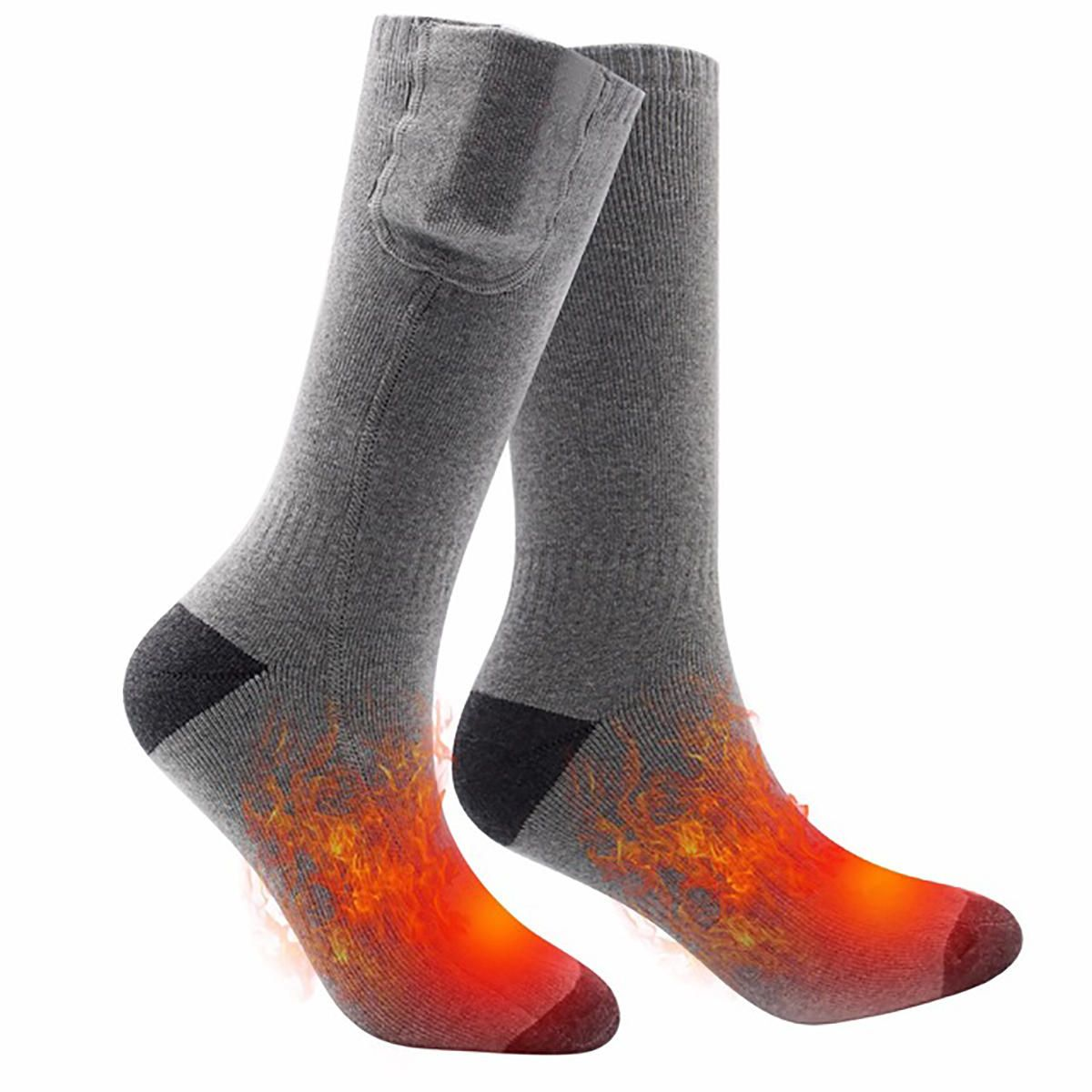 ETU US$44.38 Cotton Electric Rechargeable Battery Heated Socks Winter Cycling Ski Warmer Feet Socks
