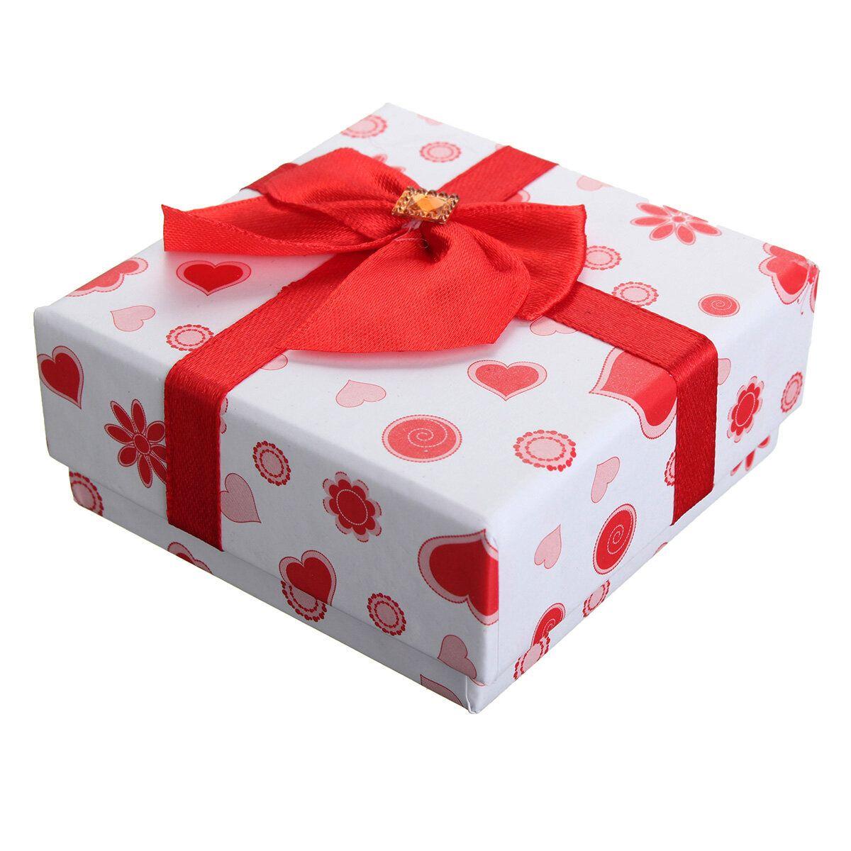 Paper Bowknot Necklace Earrings Bracelet Gift Box Case