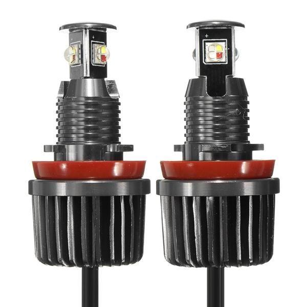 Pair 12V 20W RGB Color WIFI Change Angel Eye Light LED Bulb For BMW E90 E92 E93 X5