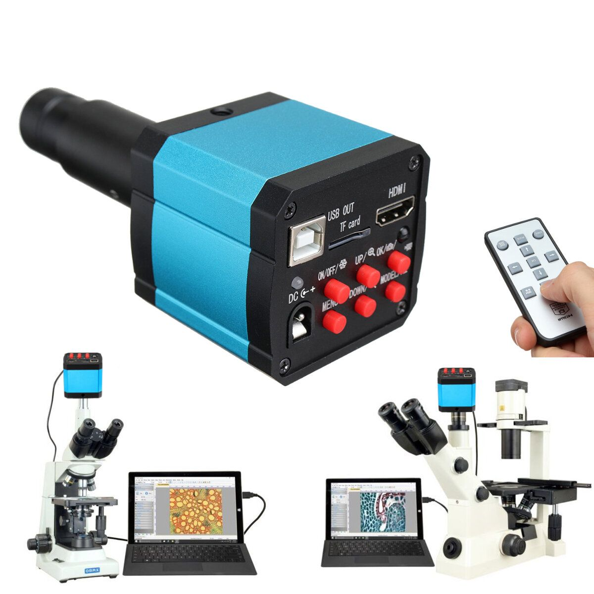 HAYEAR 16MP 1080P 60FPS USB C mount Digital Industry Video Microscope Camera with HDMI Cable