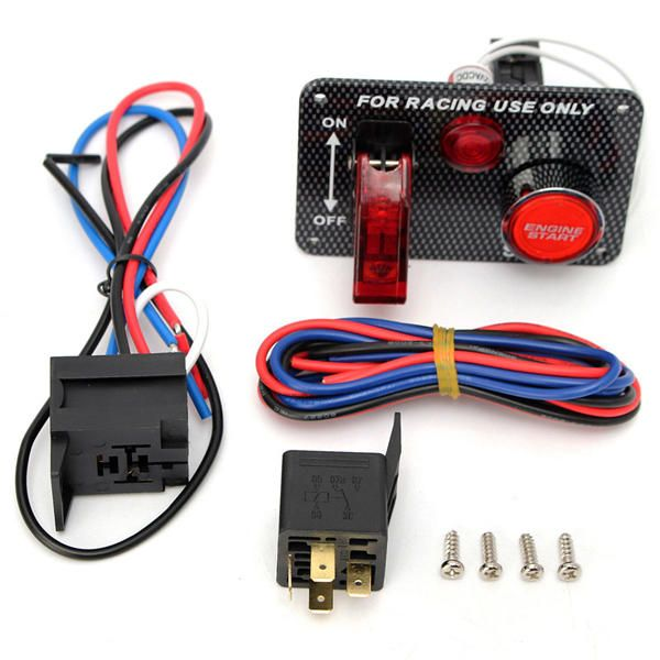 OIJ US$22.15 12v Racing Car Engine Start Push Button Toggle Ignition Switch Panel