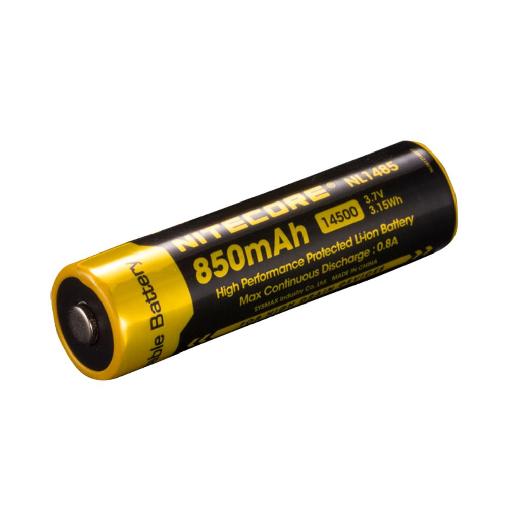 RBX US$8.19 Nitecore NL1485 850mAh 14500 High Performance Li-ion Rechargeable Battery for Flashlight Power Tools