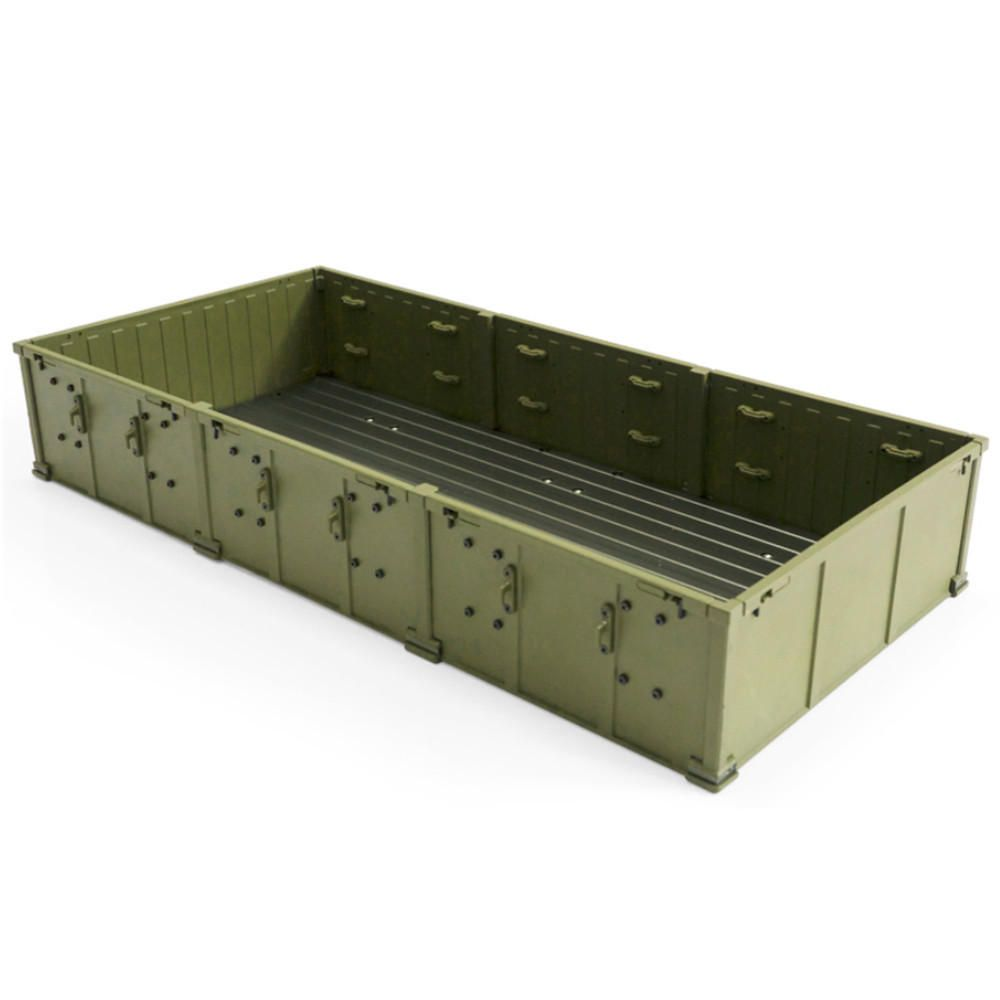 ZVG US$69.67 HG P801 1/12 2.4G 8X8 Rc Car Parts Army Green Alloy Container 8ASS-P0010 w/ Screws