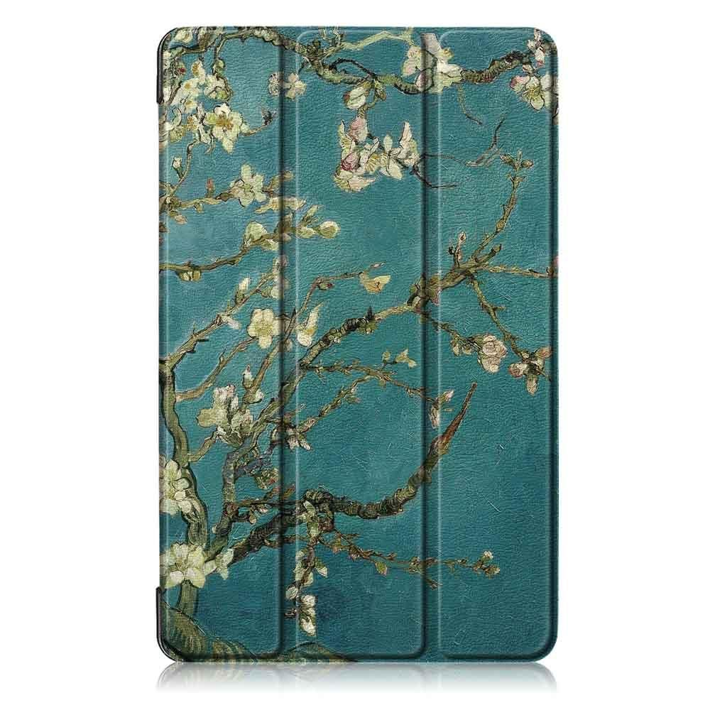 Tri Fold Pringting Tablet Case Cover for Samsung Galaxy Tab A 8.0 2019 SM P200 P205 Tablet Apricot Blossom