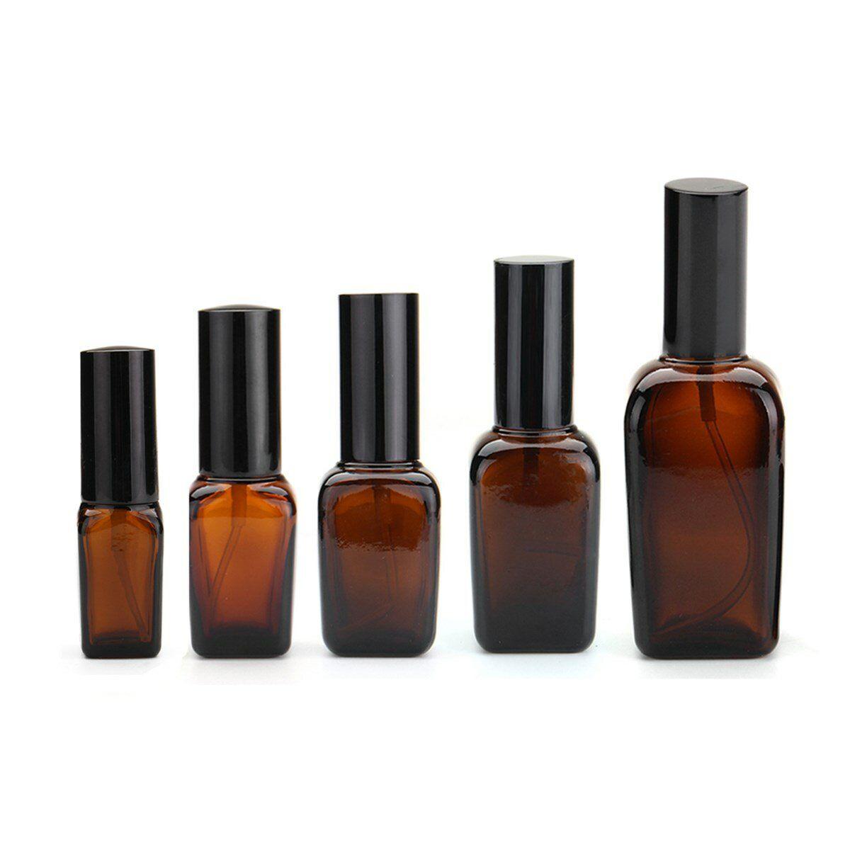 5Pcs Amber Glass Spray Bottles Water Sprayer Trigger for Essential Oil Perfume Toner