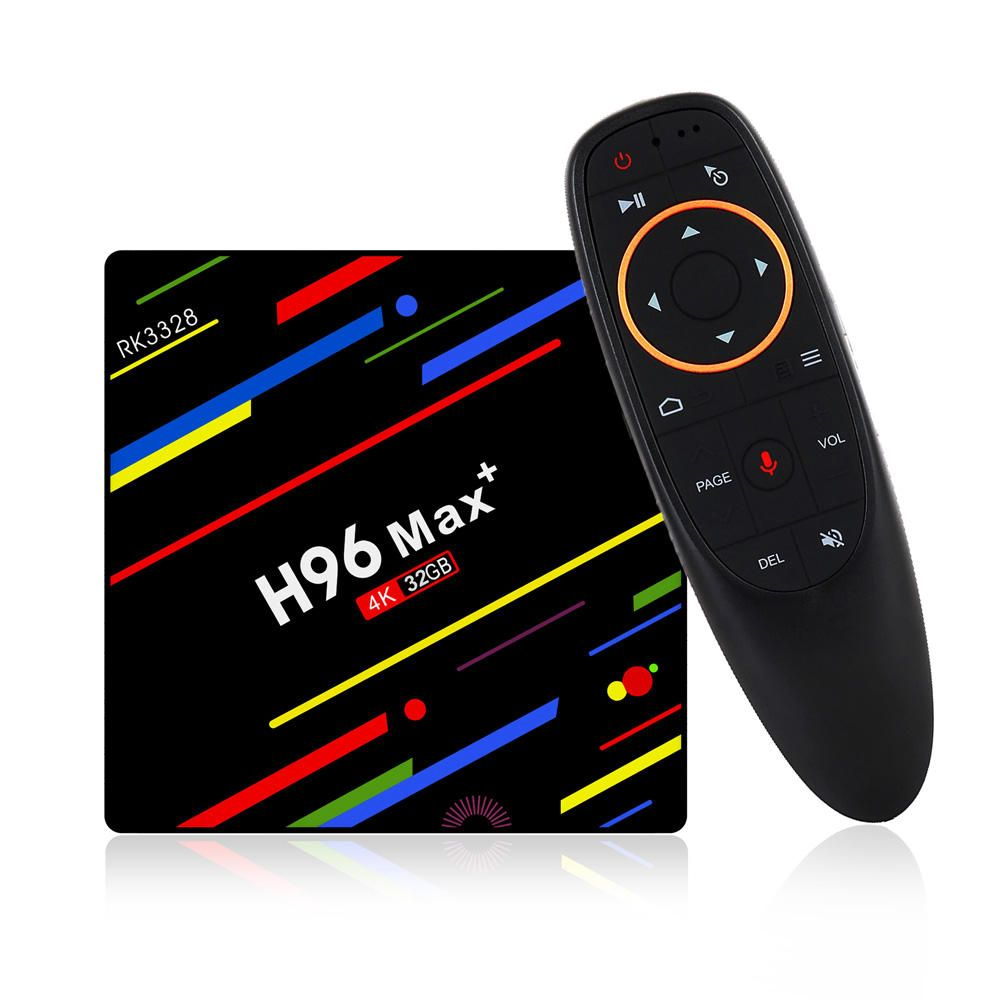 VRH US$31.99~36.99 H96 Max Plus RK3328 4G/32G Android 8.1 USB3.0 Voice Control TV Box Support HD Netflix 4K Youtube