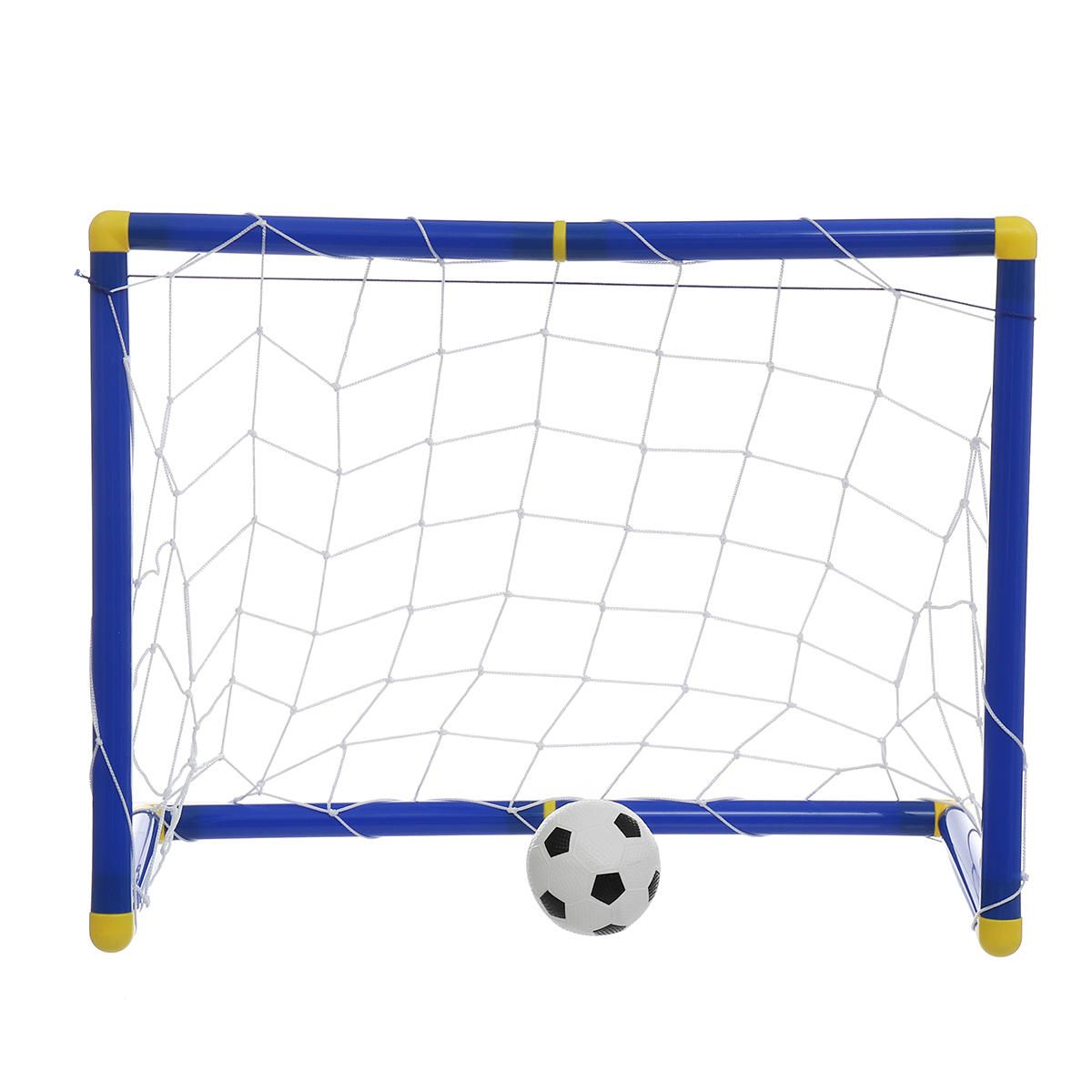 GQA US$10.08 60cm Kids Football Soccer Goals Portable Posts Nets Frame Ball Pump Indoor Outdoor Set Children Play Fun Toys
