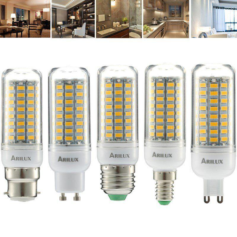 ARILUX® E27 E14 B22 GU10 G9 5W SMD5730 Constant Current Smart IC 89LEDs Corn Light Bulb AC220V