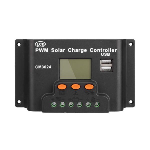 LCD 30A PWM Solar Panel Regulator Charge Controller 12V/24V 360W/720W