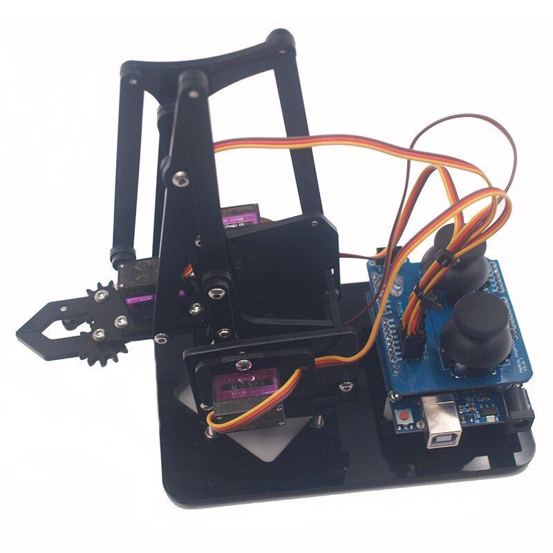 KAE US$43.41 Mearm DIY 4DOF  Robot Arm 4 Axis Rotating Kit With Joystick Button Controller 4pcs Servo
