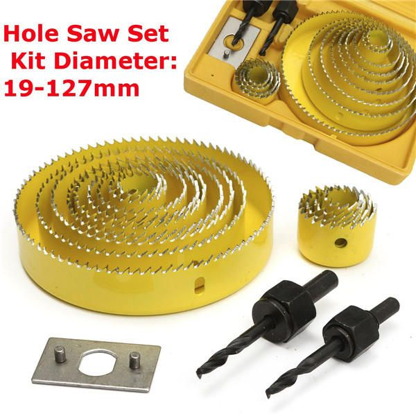 16pcs Hole Saw Cutting Set With Hex Wrench 19 127mm Hole Saw Kit