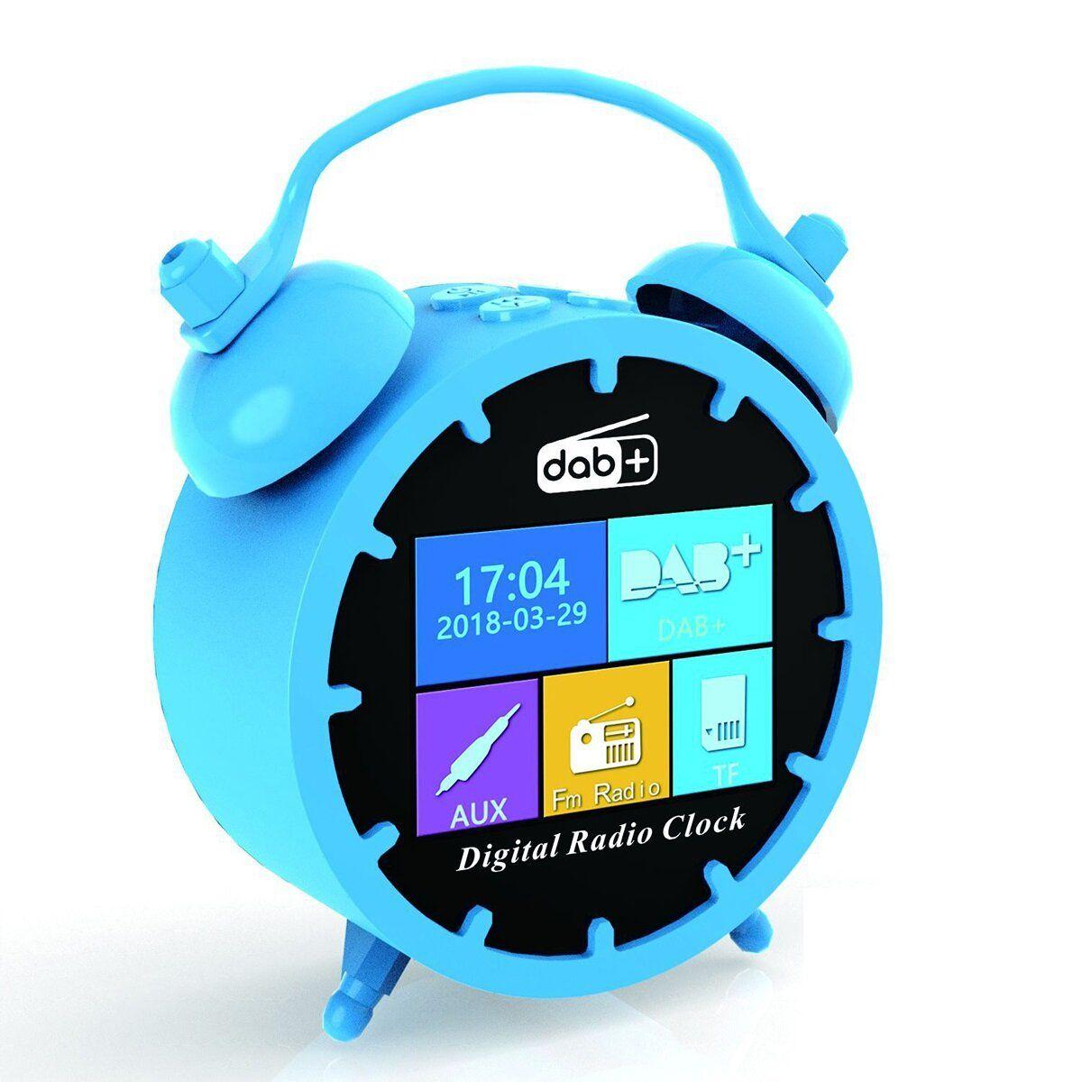 Portable DAB/DAB+ LCD Digital Projection Radio Bedside Alarm Clock Timer USB FM