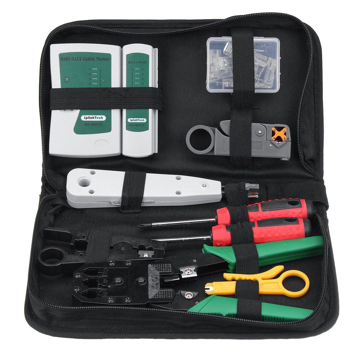 LAN Network Cable Tester Crimp Crimper Plier Kit Cat5 RJ45 RJ11 RJ45 Hand Tool