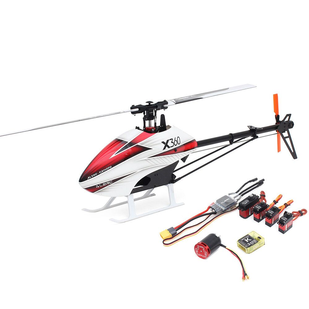 ALZRC X360 FAST FBL 6CH 3D Flying RC Helicopter Super Combo With Motor ESC Servo Gyro