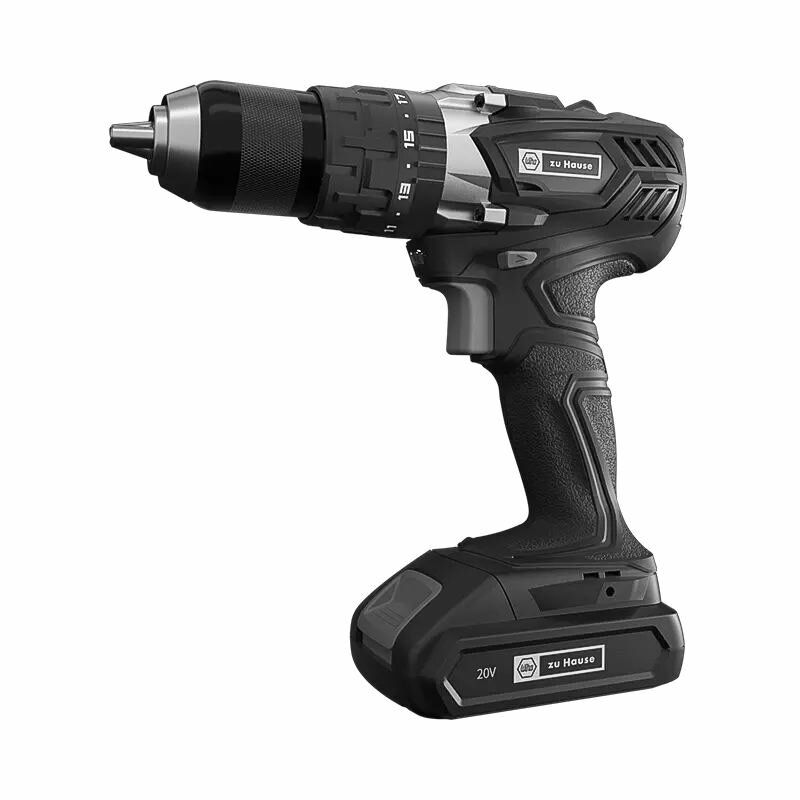 Wiha zu Hause 20V 3In1 Cordless Impact Electric Drill Driver 18+1 Torque 40NM Li ion Battery Electric Screw Driver with 2 Speed Power Tool