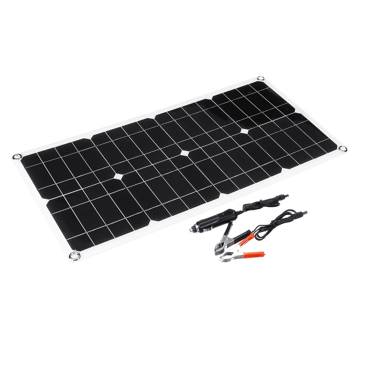 100W 18V Dual USB Solar Panel Battery Solar Cell Module Car Outdoor Charger Solar Power Panel 1Pcs