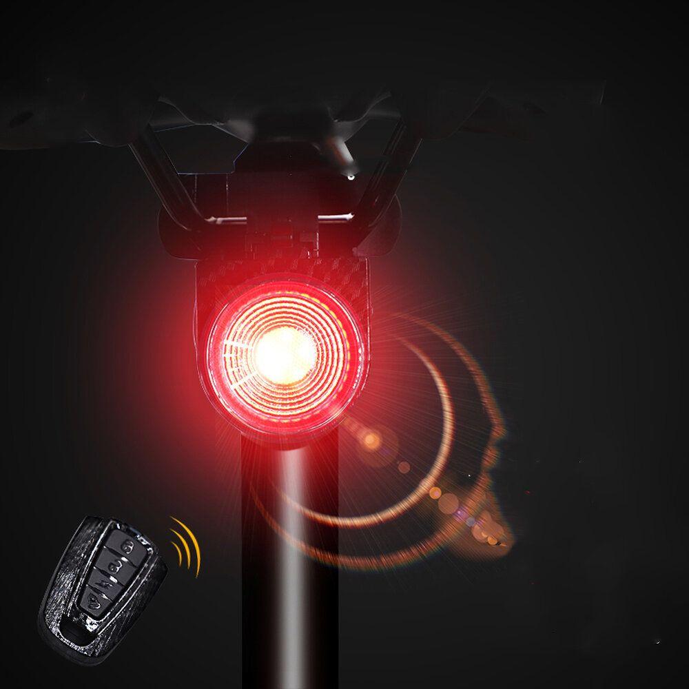 ANTUSI A8 108dB Burglar Alarm Tail Light 40LM Smart Light Sensor Brake Sensor Anti thief Bike Taillight IP65 Waterproof USB Rechargeable MTB Road Bicycle Electric Scooter E bike Rear Light