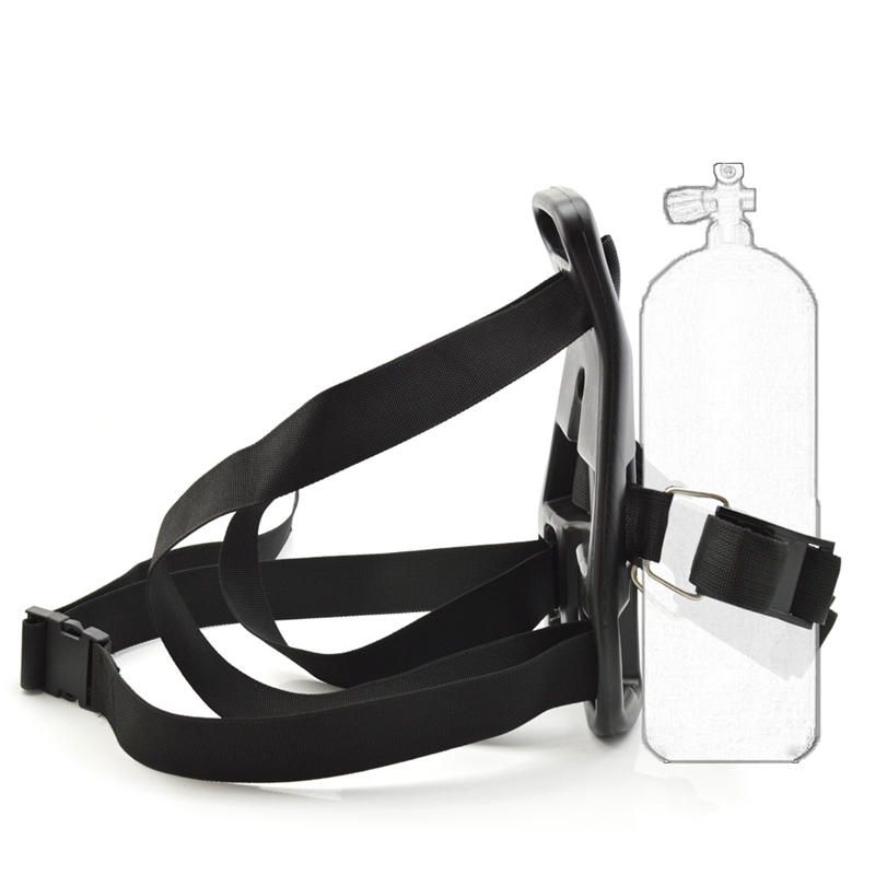 Swimming Oxygen Cylinder Tank Back Holder Portable Mount Diving Scuba Backpack Support