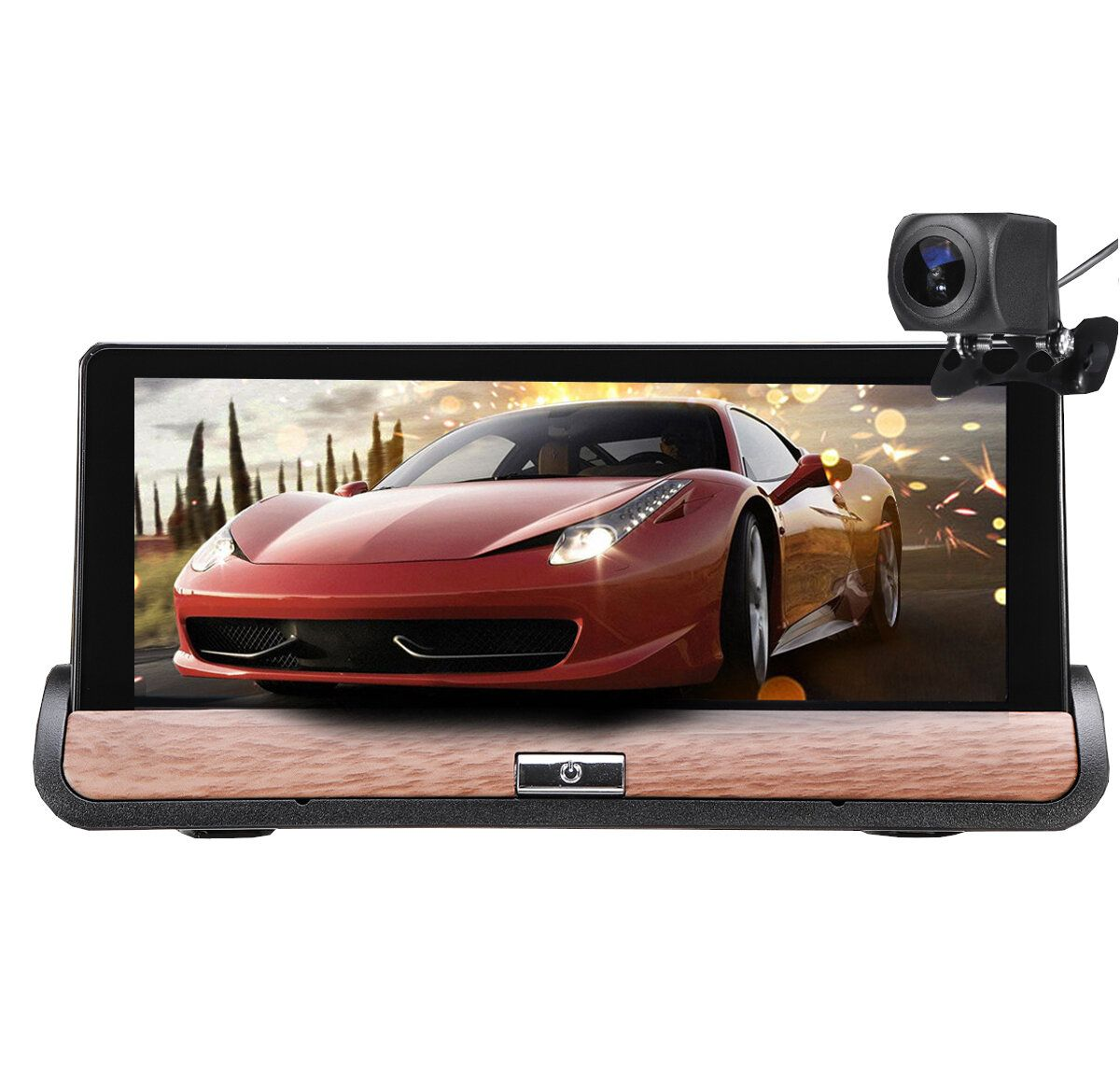 JHV US$121.53 7 Inch for Android 5.0 HD Car DVR GPS Dual Lens Navigation Rear View Dash Camera Recorder Touch Screen FM 3G + Wifi