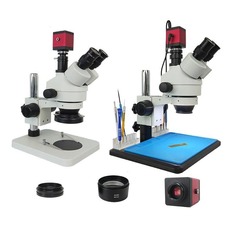 Efix 3.5 45X 13MP Trinocular Stereo Soldering Microscope Stand Lens Digital Camera for Repair Mobile Phone Tools Kits