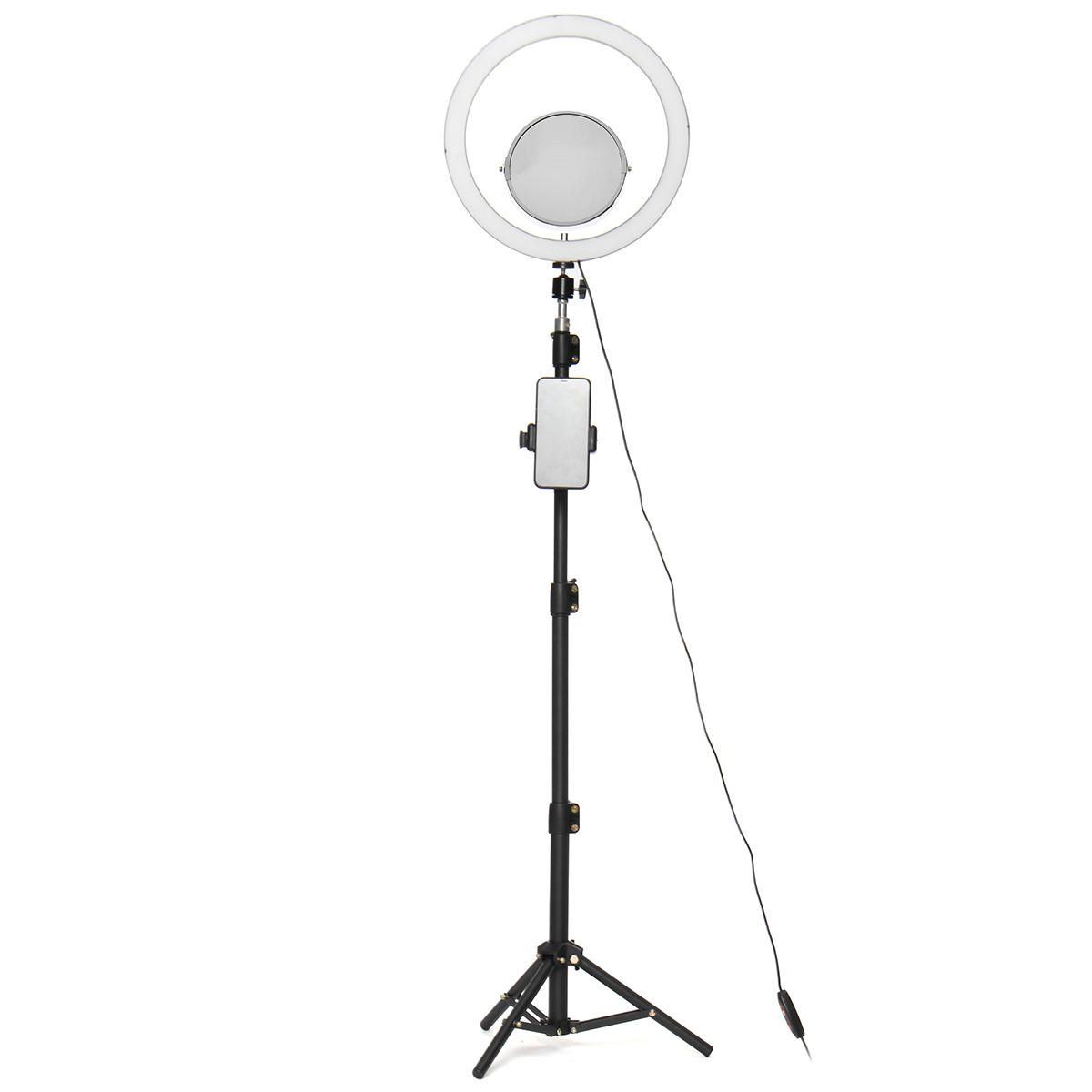 12.60 Live Stream Makeup Selfie LED Ring Light With Tripod Stand Bluetooth Remote Control Cell Phone Holder