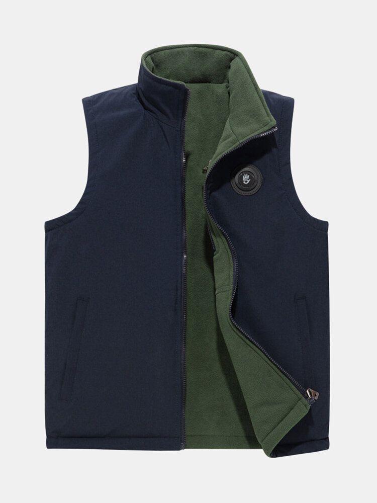 Double sided Wearable Fleece Lined Casual Vest