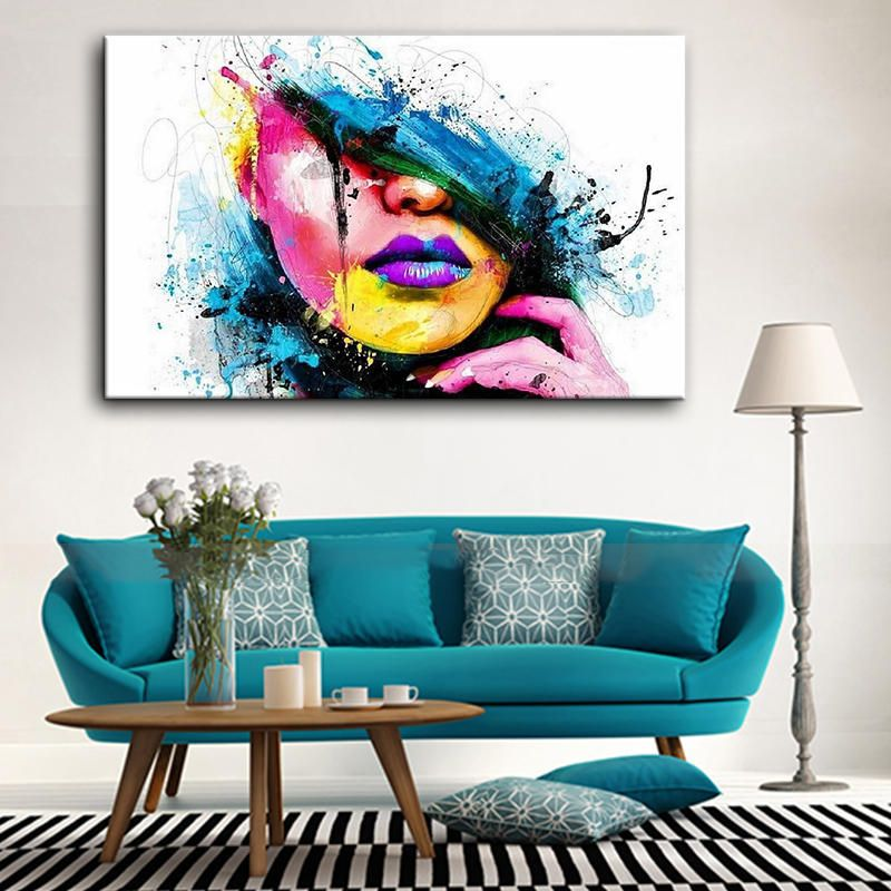 Hand Painted Oil Paintings People Modern Stretched On Canvas Wall Art For Home Decoration