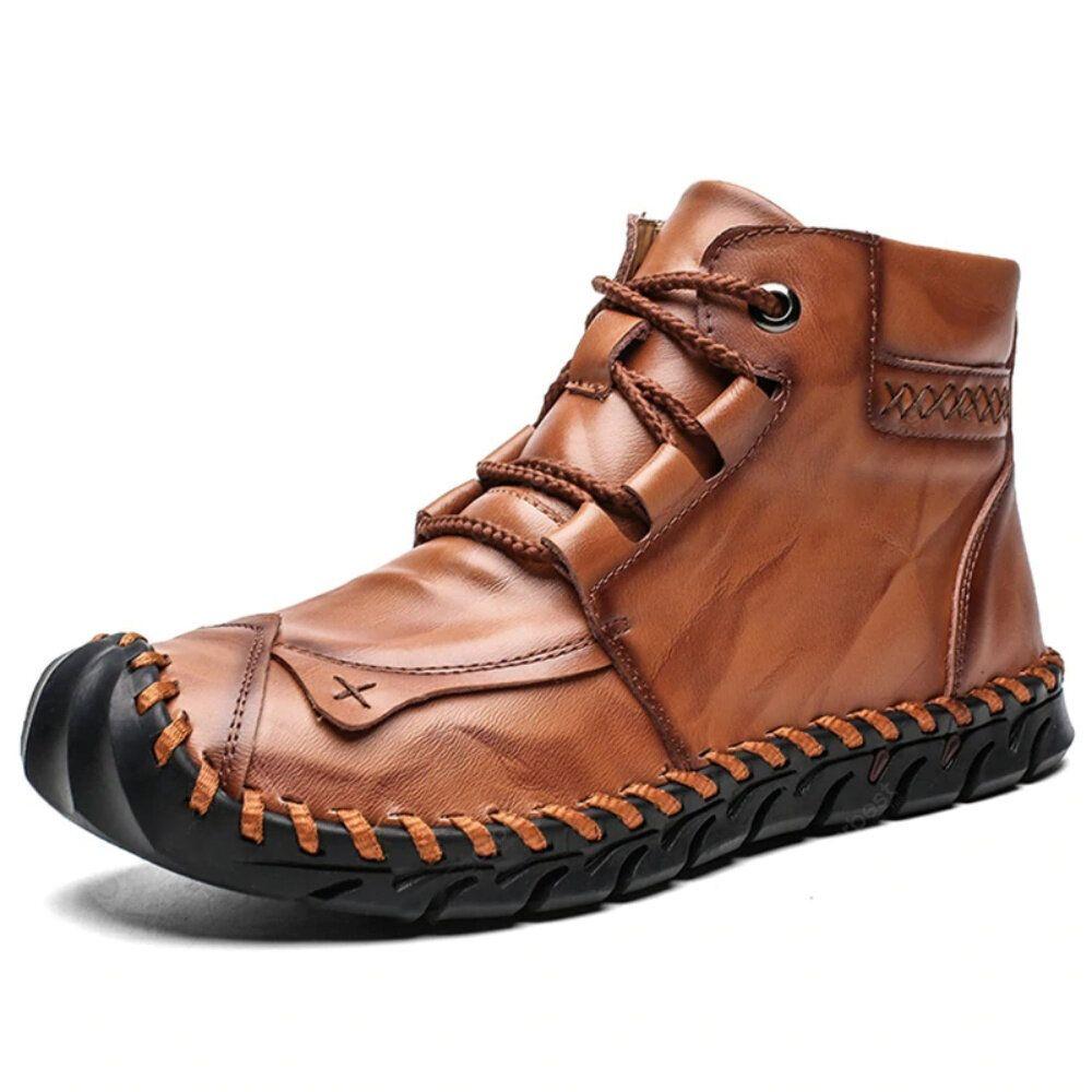 Men Anti Collision Hand Stitching Slip Resistant Boots
