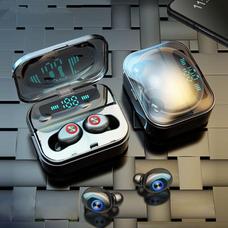 T10B TWS bluetooth 5.0 Earphone Wireless Stereo Headphones IPX7 Waterproof With Three LED Display Smart Charging Box